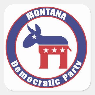 Montana Democratic Party Square Stickers