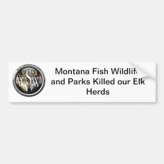 Montana Elk Bumper Sticker