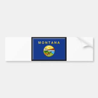 Montana Flag Bumper Sticker