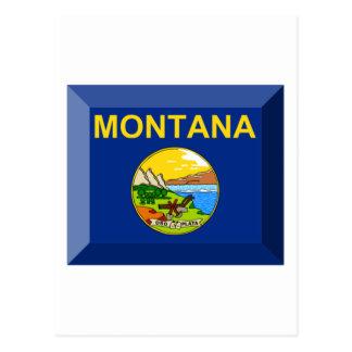 Montana Flag Gem Post Card