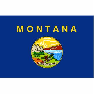 Montana Flag Keychain Cut Out
