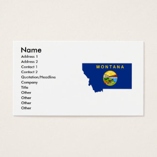 Montana Flag Map Business Card