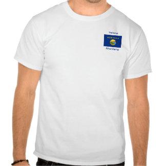 Montana Flag Map City T-Shirt