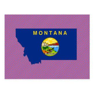 Montana Flag Map Postcard