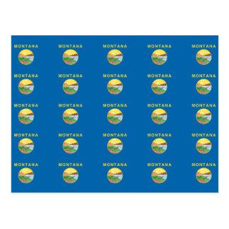 MONTANA Flag Pattern Postcard