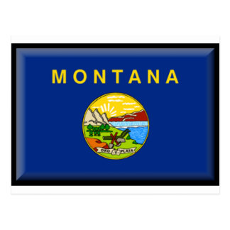 Montana Flag Post Card