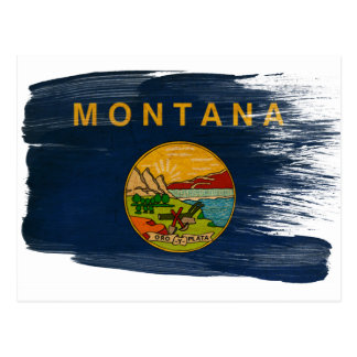 Montana Flag Postcards