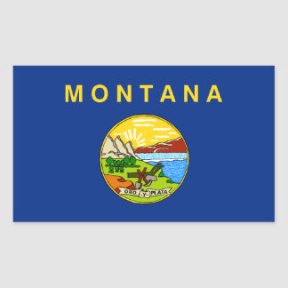 Montana Flag Rectangular Sticker