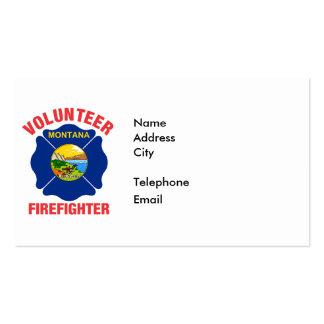 Montana Flag Volunteer Firefighter Cross Pack Of Standard Business Cards