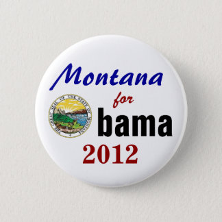 Montana for Obama 2012 6 Cm Round Badge