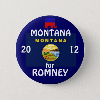 Montana for Romney 2012 6 Cm Round Badge