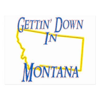 Montana - Gettin' Down Postcard