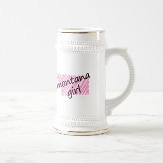 Montana Girl with Scribbled Montana Map Mug