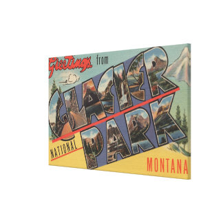 Montana - Glacier National Park Canvas Print