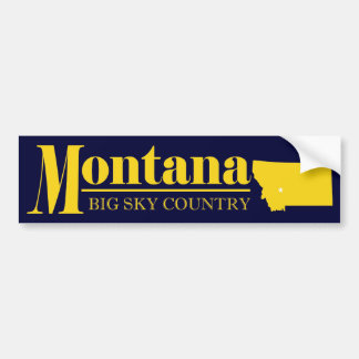 Montana Gold Bumper Sticker