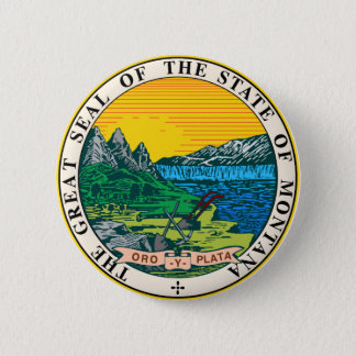 Montana Great Seal 6 Cm Round Badge