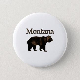 Montana Grizzly Bear 6 Cm Round Badge