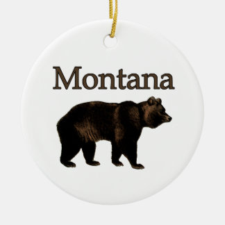 Montana Grizzly Bear Christmas Ornament