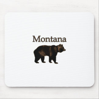 Montana Grizzly Bear Mouse Pads