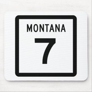 Montana Highway 7 Mouse Pad