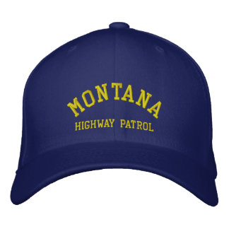 MONTANA, HIGHWAY PATROL EMBROIDERED HAT