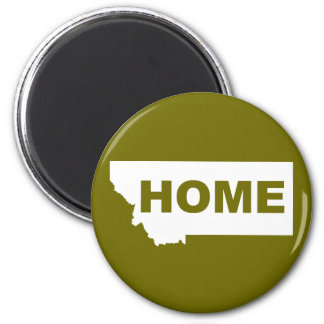 Montana Home Away From State Fridge Magnet