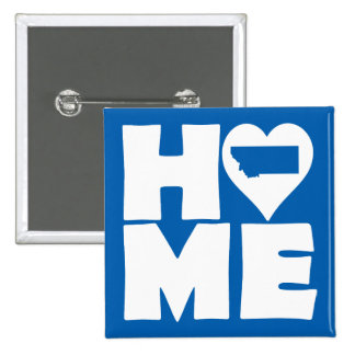 Montana Home Heart State Button Badge Pin