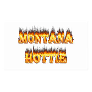 Montana hottie fire and flames pack of standard business cards