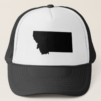 Montana in Black and White Trucker Hat