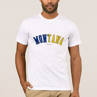 Montana in state flag colors T-Shirt