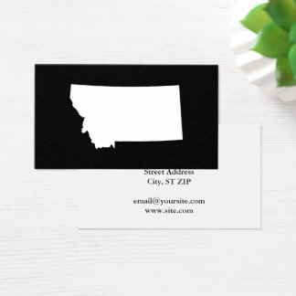 Montana in White and Black Business Card