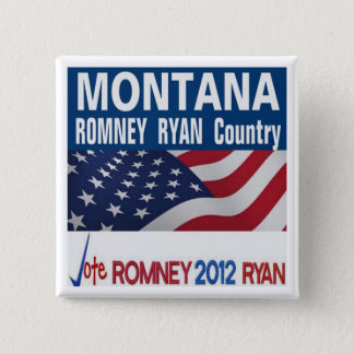 MONTANA is Romney Ryan Country Button