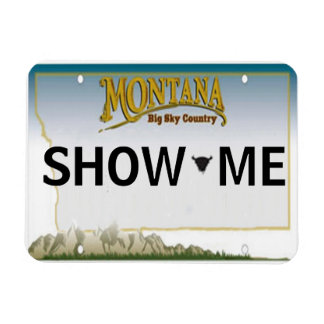 Montana License Plate Magnet