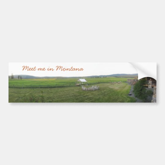 Montana Majesty_Meet Me in Montana Bumper Sticker