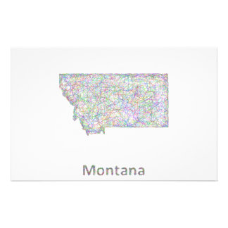 Montana map 14 cm x 21.5 cm flyer