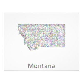 Montana map 21.5 cm x 28 cm flyer