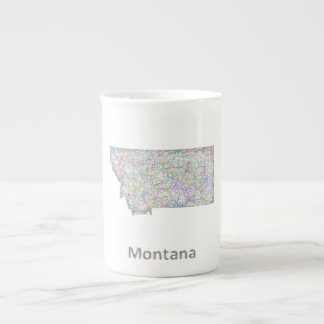 Montana map bone china mug