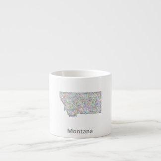 Montana map espresso mug
