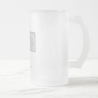 Montana map frosted glass mug