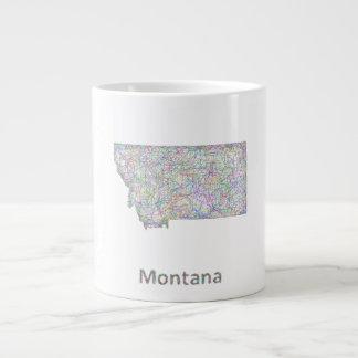Montana map jumbo mug