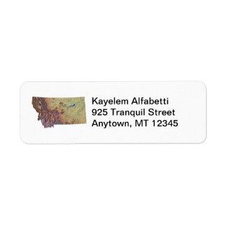 Montana Map Return Address Label