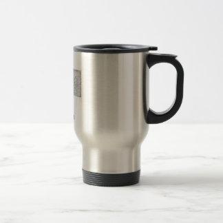 Montana map stainless steel travel mug