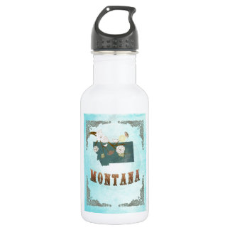 Montana Map With Lovely Birds 532 Ml Water Bottle
