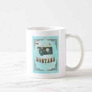 Montana Map With Lovely Birds Basic White Mug