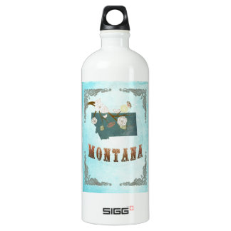 Montana Map With Lovely Birds SIGG Traveller 1.0L Water Bottle