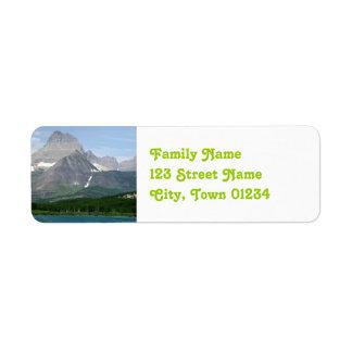 Montana Mountains Return Address Label