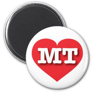 Montana MT red heart 6 Cm Round Magnet