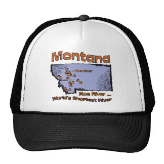Montana MT US Motto Worlds Shortest River Trucker Hat