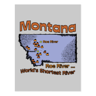 Montana MT US Motto ~ Worlds Shortest River Postcard