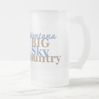 MONTANA GLASS BEER MUGS